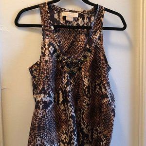 Michael Kors silk sleeveless top / blouse